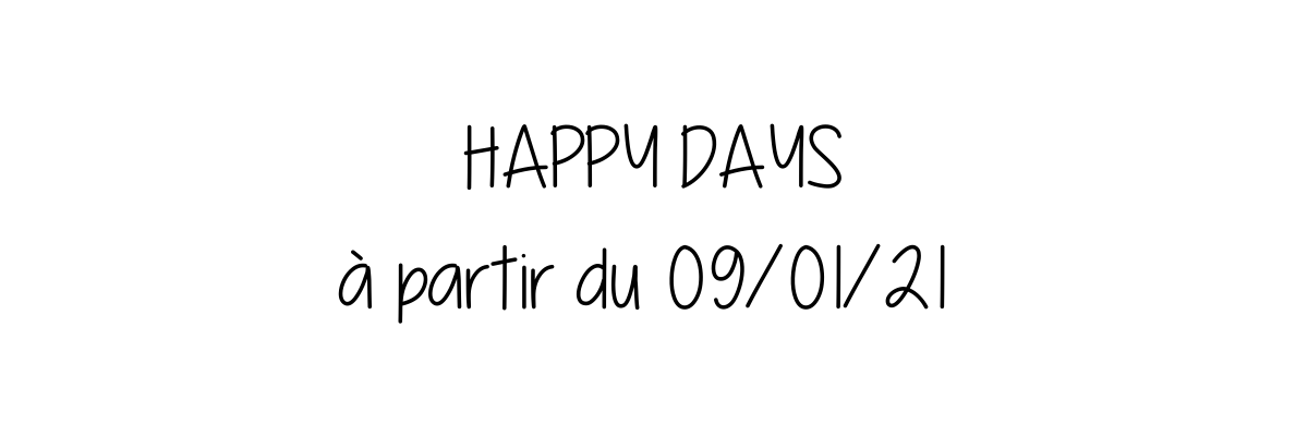 les happy days - Zélie m'a dit